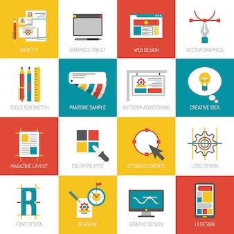 Ícones de design gráfico