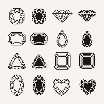Ícones de diamante