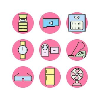 Ícones de dispositivos eletrônicos para uso pessoal e comercial