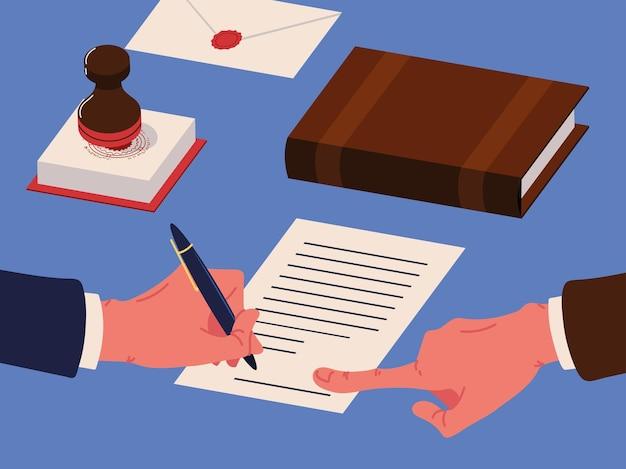 Ícones de documentos notariais