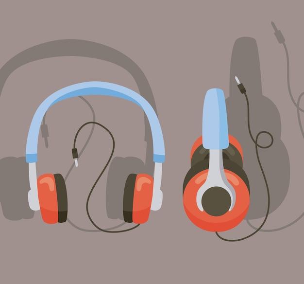 Ícones de dois fones de ouvido