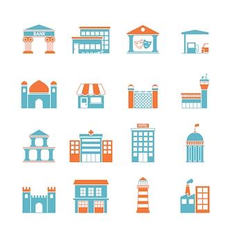 Ícones de edifícios do governo