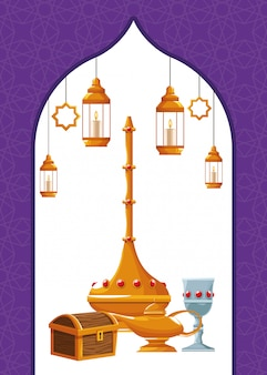 Ícones de elementos árabes