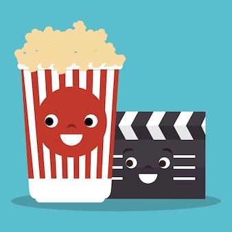 Ícones de elementos de entretenimento de cinema vector design ilustração