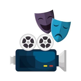 Ícones de elementos de entretenimento de cinema