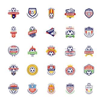 Ícones de emblema de futebol