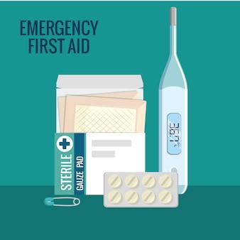 Ícones de emergência de emergência
