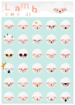 Ícones de emoji de cordeiro