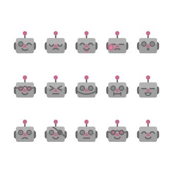 Ícones de emojis de robô