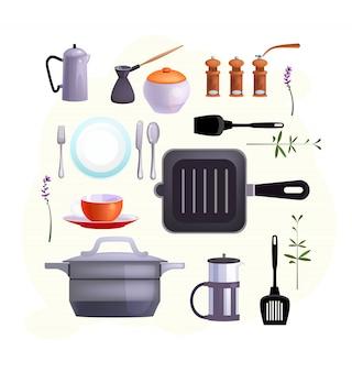 Ícones de equipamentos de cozinha
