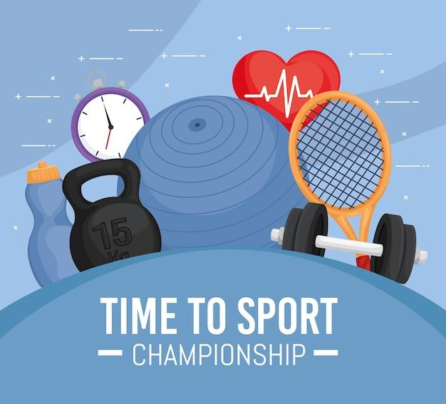 Ícones de esporte e fitness