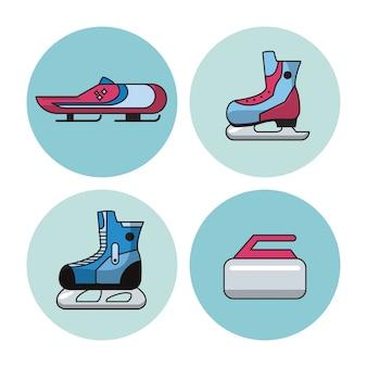 Ícones de esportes de inverno
