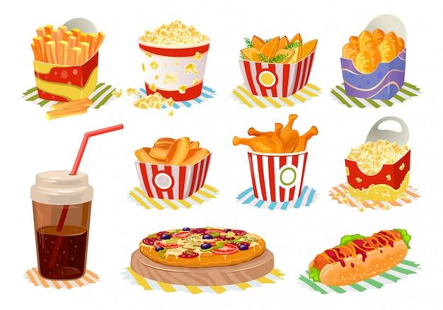 Ícones de fast-food