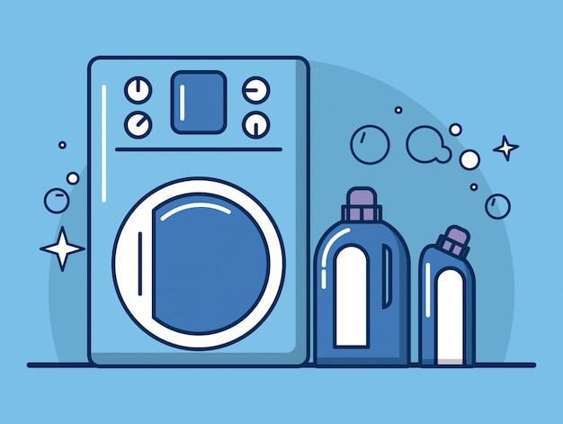 Ícones de ferramentas e produtos de limpeza