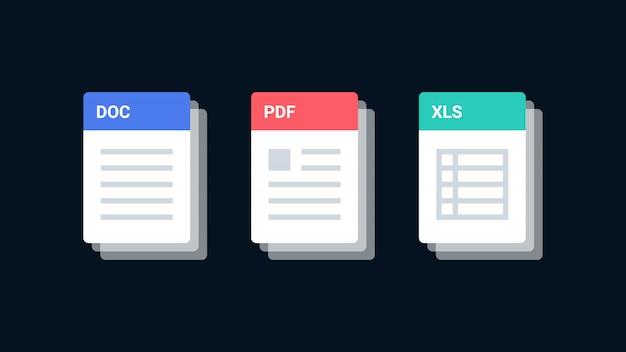 Ícones de formato de arquivo