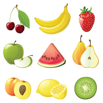 Ícones de frutas