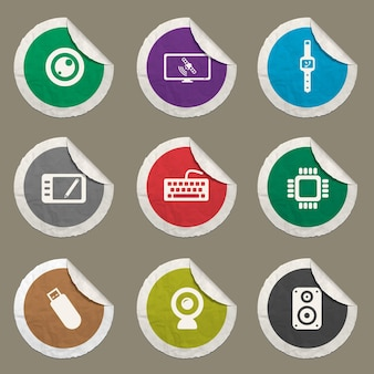 Ícones de gadgets definidos para sites e interface do usuário