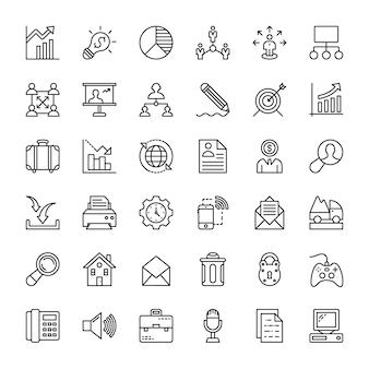 Ícones de gerenciamento de projetos