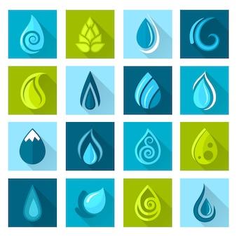 Ícones de gotas de água