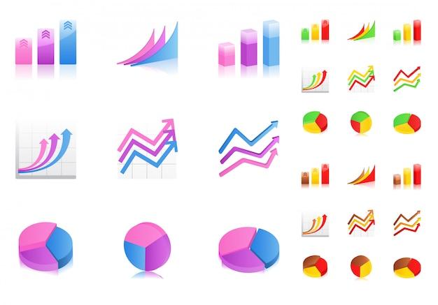 Ícones de gráficos