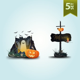 Ícones de halloween.