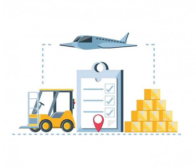 Ícones de infográfico de serviço de entrega
