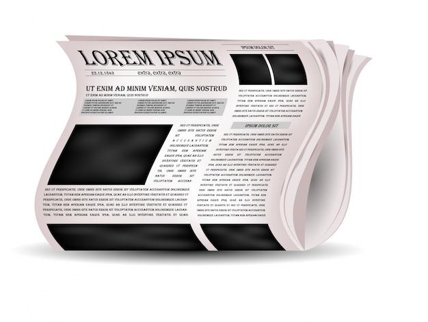 Ícones de jornais e notícias de vetores.