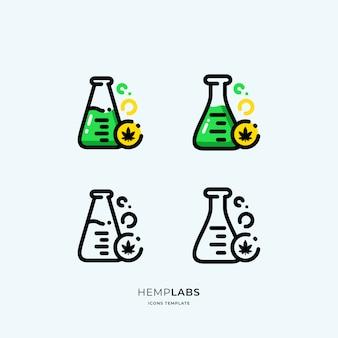 Ícones de laboratórios de canábis