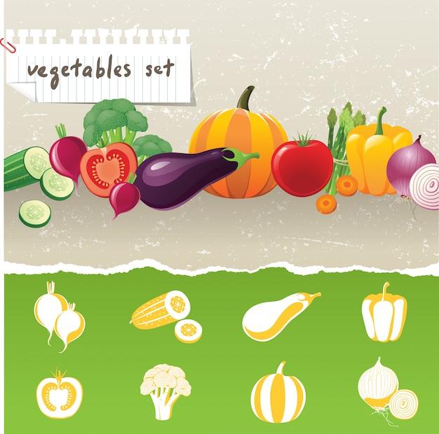 Ícones de legumes