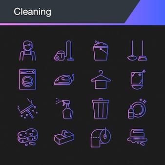 Ícones de limpeza