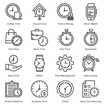 Ícones de linha do tempo