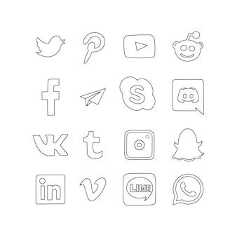 Ícones de logotipo de mídia social