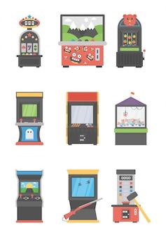 Ícones de máquinas de jogos
