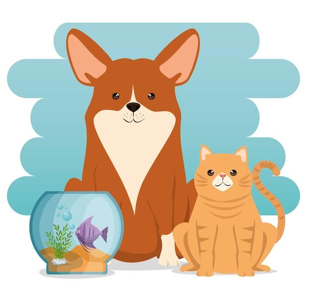 Ícones de mascotes de loja de animais de estimação