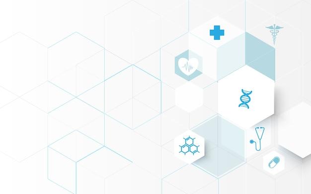 Ícones de medicina e ciência
