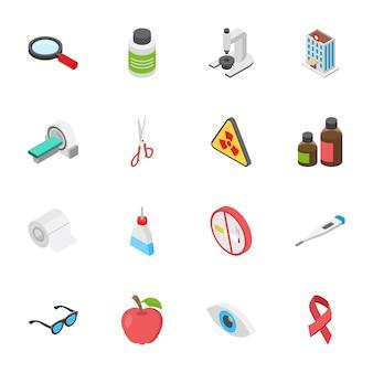 Ícones de medicina e saúde