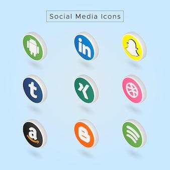 Ícones de mídia social 03