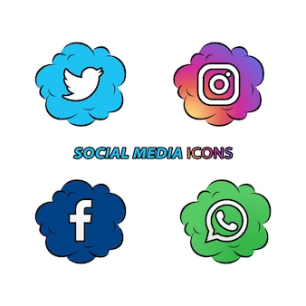 Ícones de mídia social popular