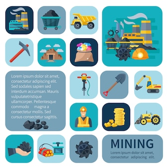 Ícones de mineração
