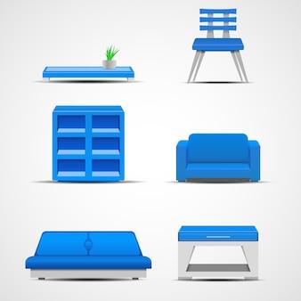 Ícones de móveis. conceito gráfico para sua ilustração de design