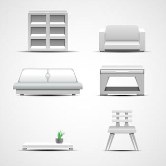 Ícones de móveis. conceito gráfico