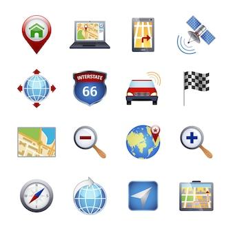 Ícones de navegação do gps