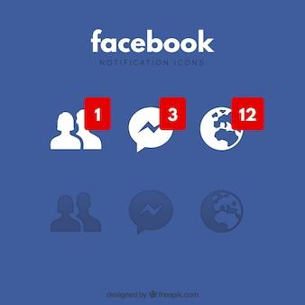 Ícones de notificação do Facebook