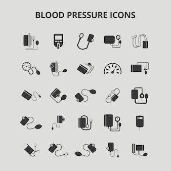Ícones de pressão arterial