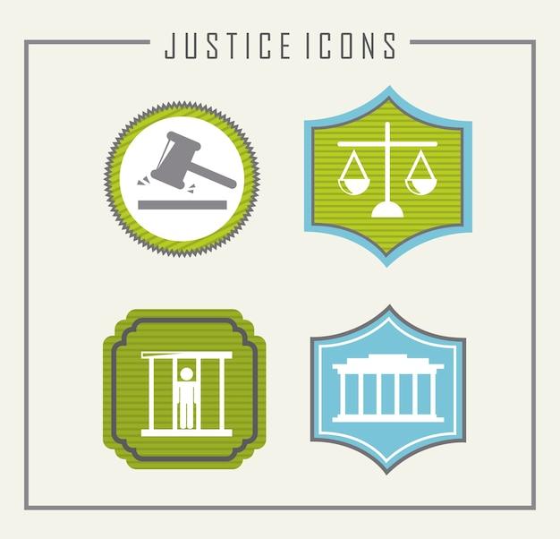 Ícones de prisão sobre ilustração vetorial de fundo bege