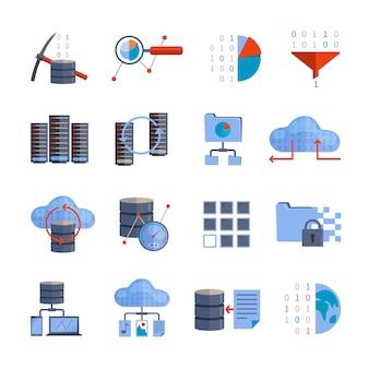 Ícones de processamento de dados
