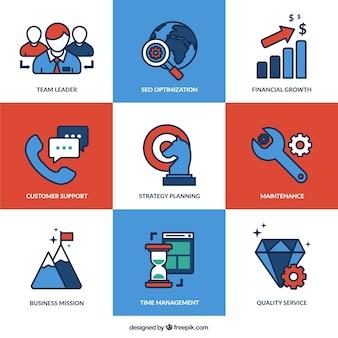 Ícones de processos de negócios