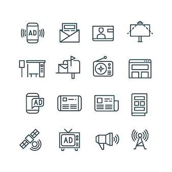 Ícones de publicidade