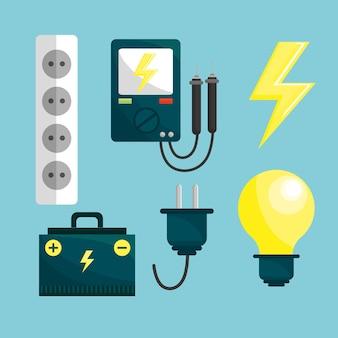 Ícones de registro de energia e meio ambiente