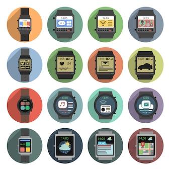 Ícones de relógio inteligente